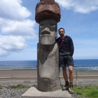 """ein falscher Moai auf dem Zeltplatz. Ach nein, zwei ;) • <a style=""""font-size:0.8em;"""" href=""""http://www.flickr.com/photos/127204351@N02/15716056830/"""" target=""""_blank"""">View on Flickr</a>"""