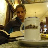 "eine heiße Schokolade im Cafe Tortoni • <a style=""font-size:0.8em;"" href=""http://www.flickr.com/photos/127204351@N02/15902698242/"" target=""_blank"">View on Flickr</a>"